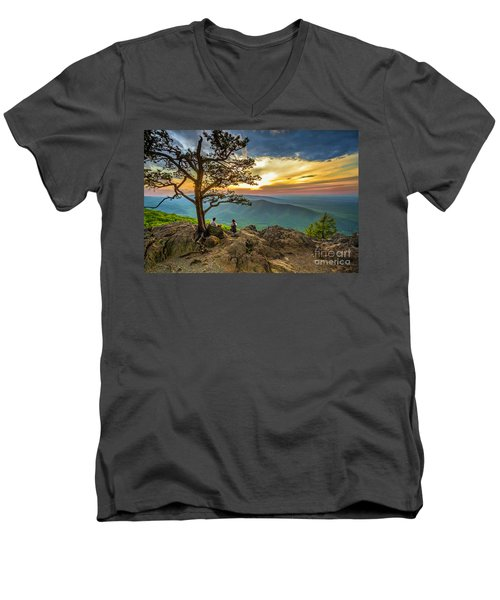 Sunset View At Ravens Roost Men's V-Neck T-Shirt