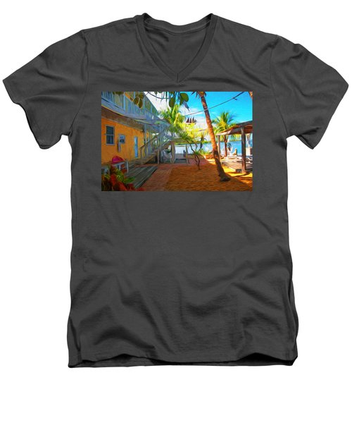 Sunset Villas Patio Men's V-Neck T-Shirt