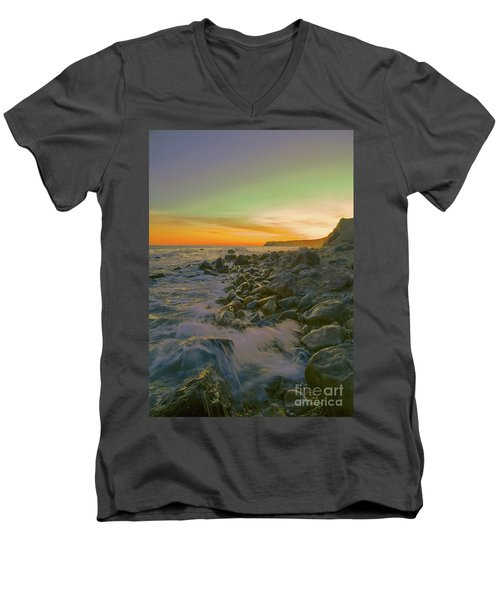 Sunset Waves Men's V-Neck T-Shirt