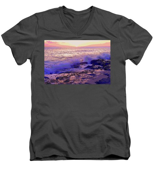 Sunset, West Oahu Men's V-Neck T-Shirt