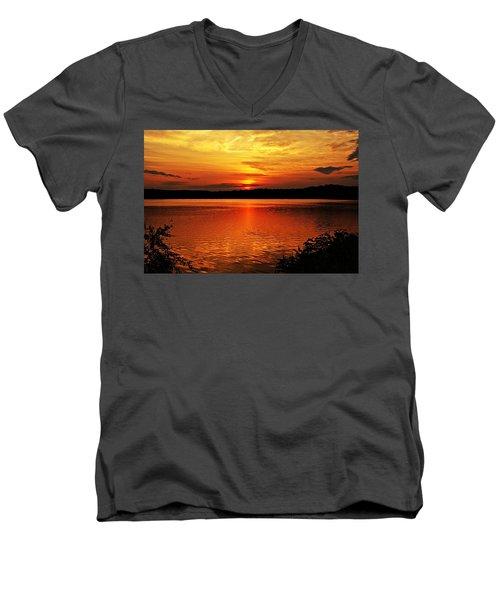 Sunset Xxiii Men's V-Neck T-Shirt by Joe Faherty