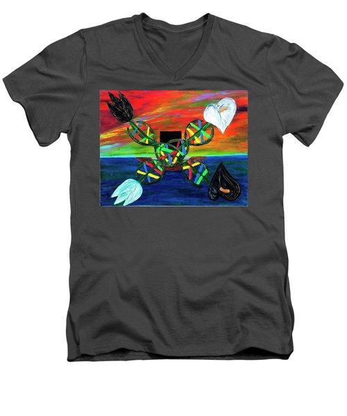 Sunseth In Atlantis Men's V-Neck T-Shirt