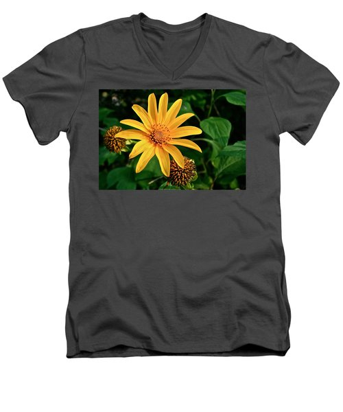 Men's V-Neck T-Shirt featuring the photograph Sunshine Cheerleader by Kathleen Scanlan