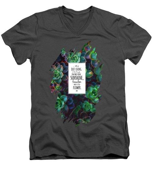 Sunshine, Freedom, Flower Men's V-Neck T-Shirt by Atelier Seneca