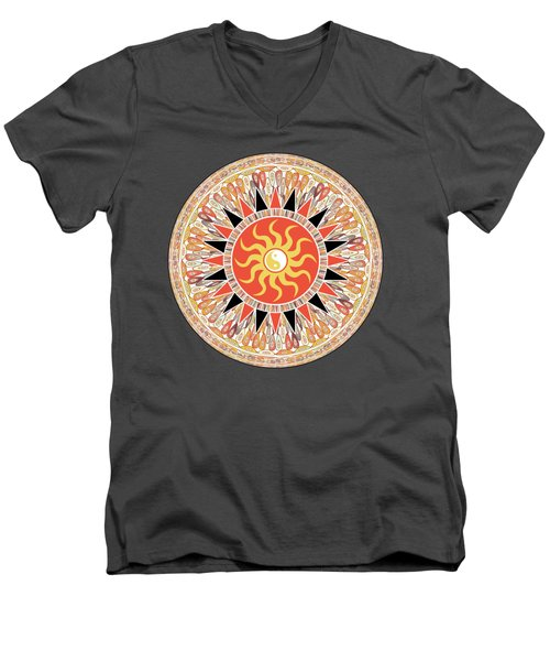 Sunshine Mandala Men's V-Neck T-Shirt