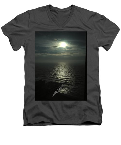 Sunshine Over Central Pier, Atlantic City, Nj Men's V-Neck T-Shirt