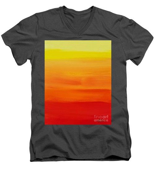 Sunshine Men's V-Neck T-Shirt by Sean Brushingham