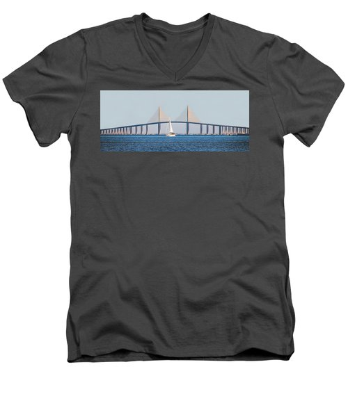 Sunshine Skyway Bridge #2 Men's V-Neck T-Shirt