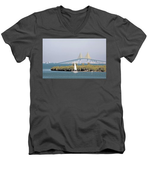 Sunshine Skyway Bridge Men's V-Neck T-Shirt