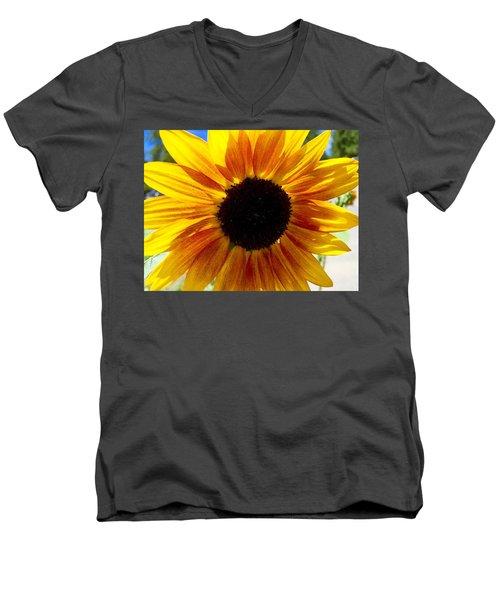Sunshine Sunflower Men's V-Neck T-Shirt