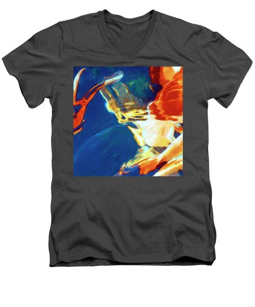 Men's V-Neck T-Shirt featuring the painting Sunspot by Dominic Piperata