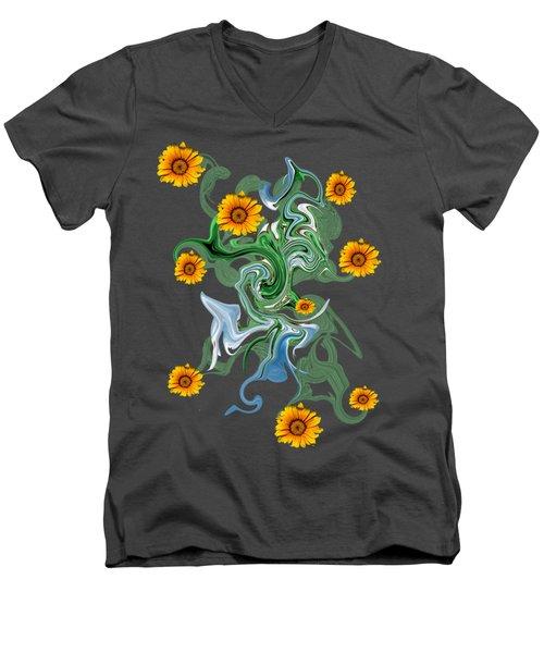 Sunspots Men's V-Neck T-Shirt by David and Lynn Keller