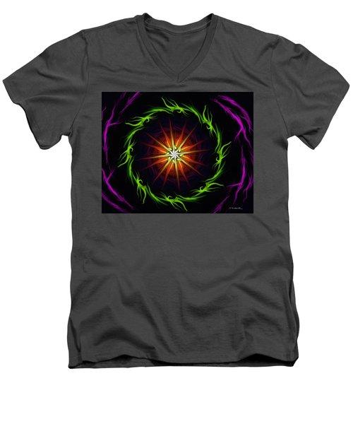 Sunstar Men's V-Neck T-Shirt by Jennifer Galbraith
