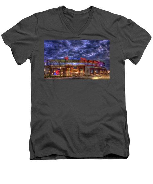 Suntrust Park Unfinished Atlanta Braves Baseball Art Men's V-Neck T-Shirt