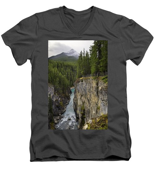 Sunwapta Falls Canyon Men's V-Neck T-Shirt