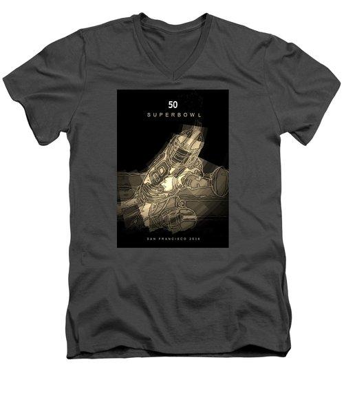 Super Bowl Poster Men's V-Neck T-Shirt