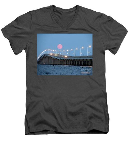 Men's V-Neck T-Shirt featuring the photograph Super Moon  by Robert Henne