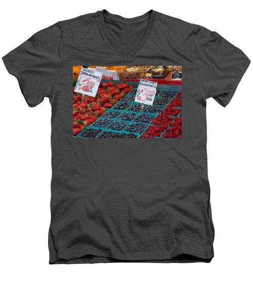 Super Sweet Blueberries Men's V-Neck T-Shirt