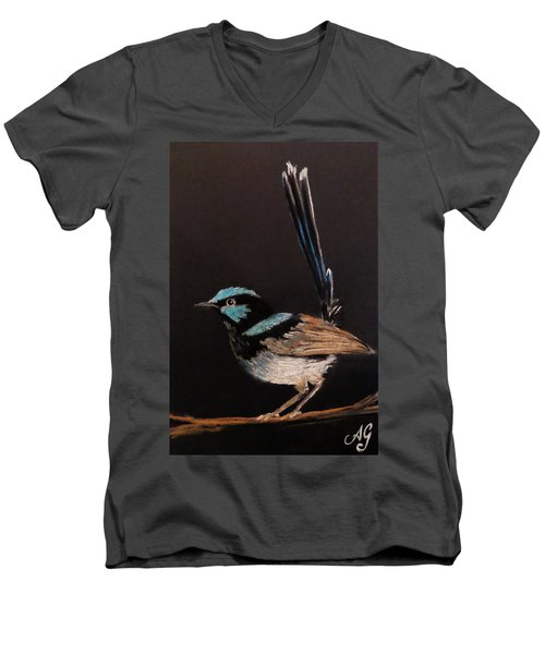 Superb Blue Wren Men's V-Neck T-Shirt