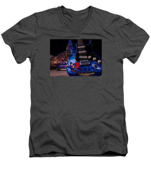 Superman Rocks Men's V-Neck T-Shirt