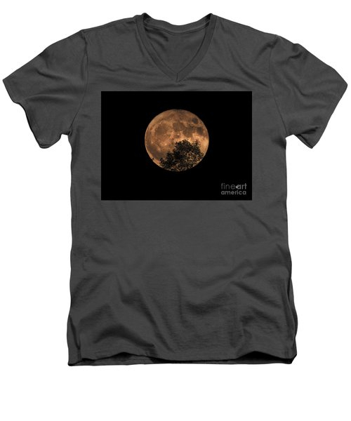 Supermoon Rising Men's V-Neck T-Shirt