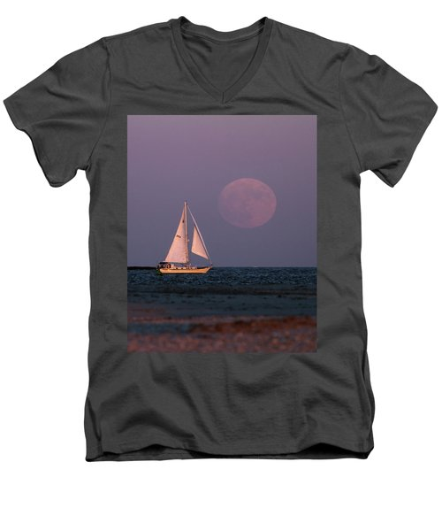 Supermoon Two Men's V-Neck T-Shirt