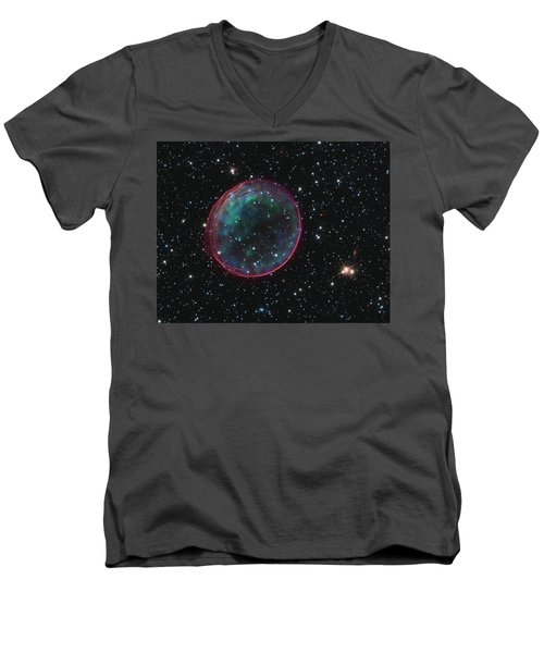 Supernova Bubble Resembles Holiday Ornament Men's V-Neck T-Shirt