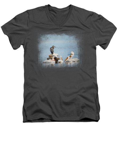 Support Group Men's V-Neck T-Shirt by Jai Johnson