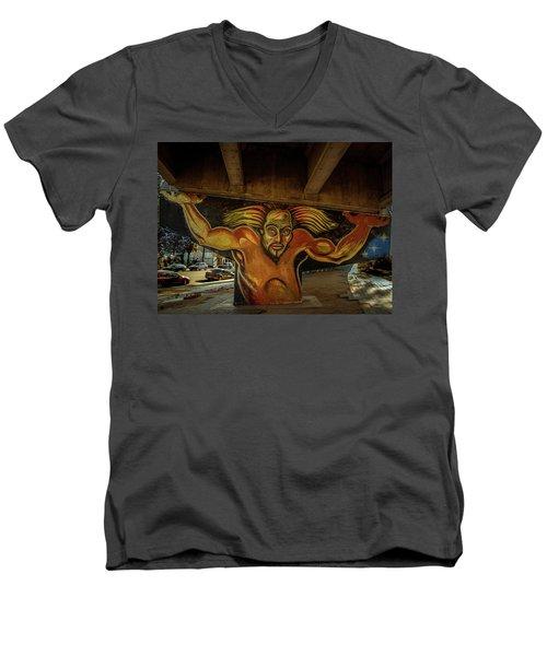 Supporting The Offramp Men's V-Neck T-Shirt