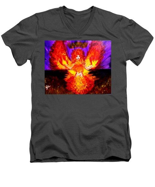 Supreme Seraphim  Men's V-Neck T-Shirt