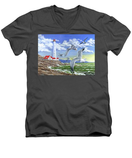 Surf And Turf Men's V-Neck T-Shirt
