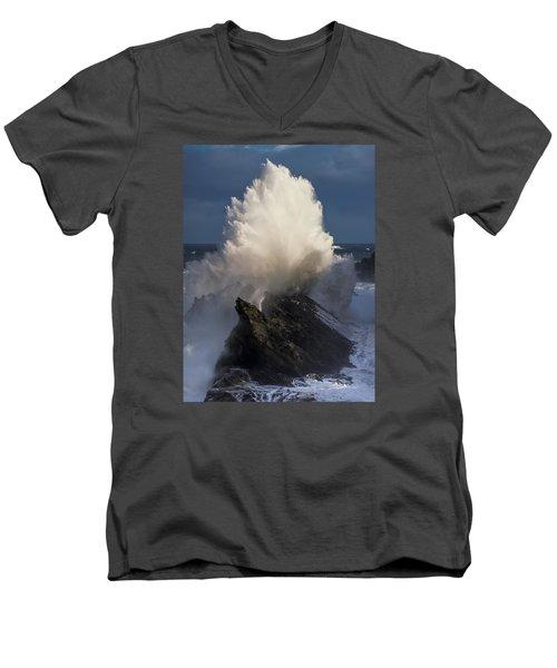 Surf Eruption Men's V-Neck T-Shirt