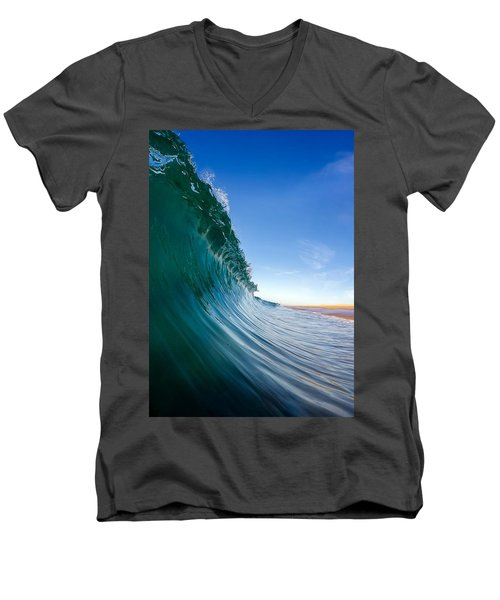 Surface Men's V-Neck T-Shirt by Sean Foster