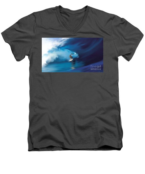 Surfers Playground Men's V-Neck T-Shirt by Anthony Fishburne