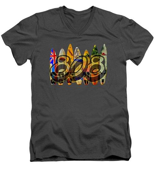 Men's V-Neck T-Shirt featuring the photograph Surfin' 808 by DJ Florek