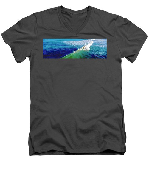 Surfs Up Daytona Beach Men's V-Neck T-Shirt