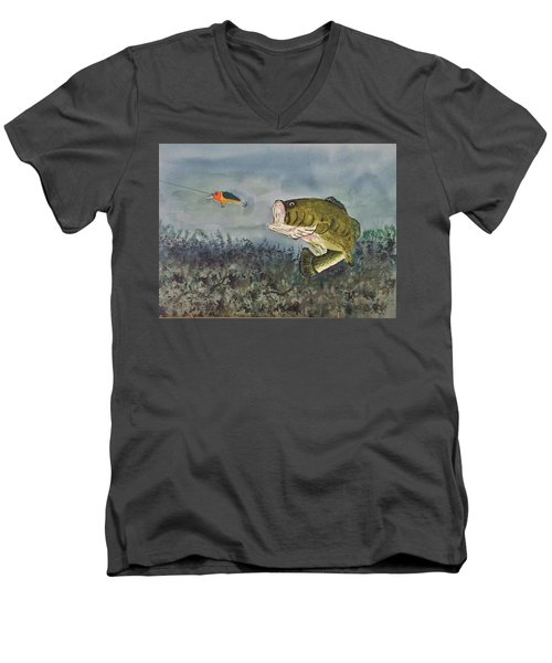 Surprise Coming Men's V-Neck T-Shirt