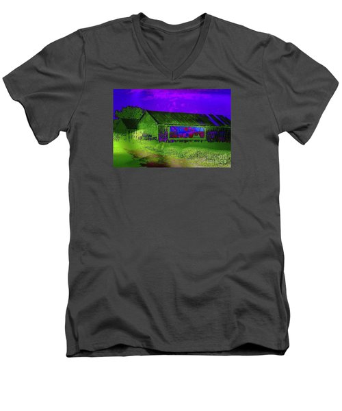 Surreal Barn Graffiti Men's V-Neck T-Shirt