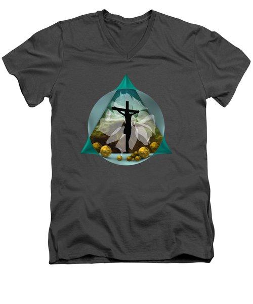 Surreal Crucifixion Men's V-Neck T-Shirt