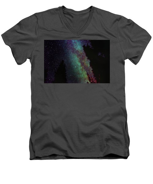 Surreal Milky Way Men's V-Neck T-Shirt by Jeremy Tamsen