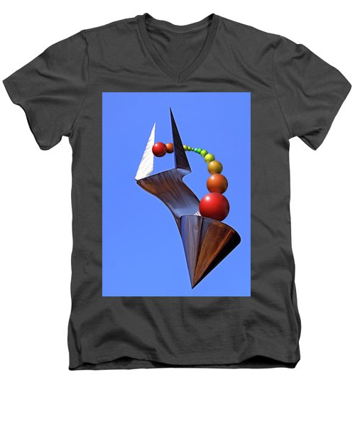 Men's V-Neck T-Shirt featuring the photograph Surreal Rainbow by Christopher McKenzie