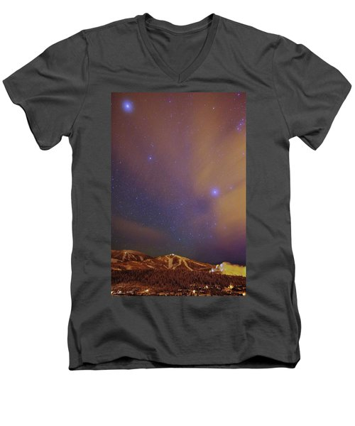 Surreal Ski Area Men's V-Neck T-Shirt