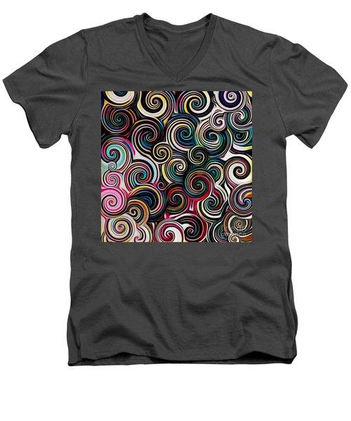Surreal Swirl  Men's V-Neck T-Shirt