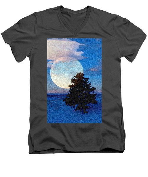 Surreal Winter Men's V-Neck T-Shirt by Ruanna Sion Shadd a'Dann'l Yoder