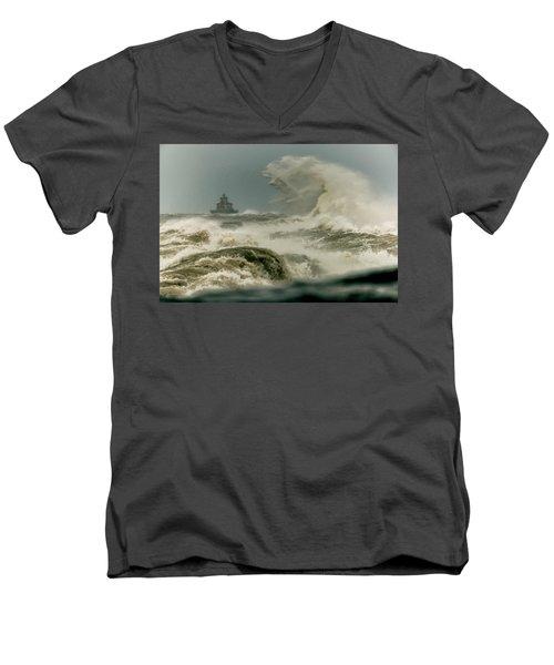 Men's V-Neck T-Shirt featuring the photograph Surrender by Everet Regal