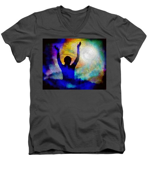 Surrender To Light Men's V-Neck T-Shirt