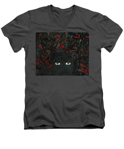 Surrounded By ? Men's V-Neck T-Shirt