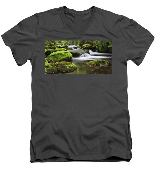 Surrounded In Green Men's V-Neck T-Shirt