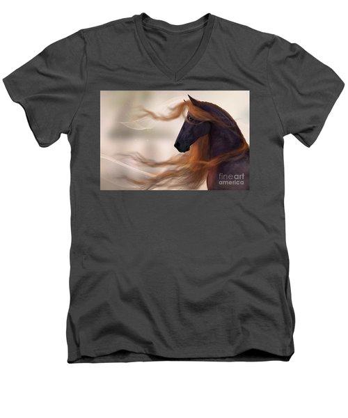 Surveying His Domain Men's V-Neck T-Shirt