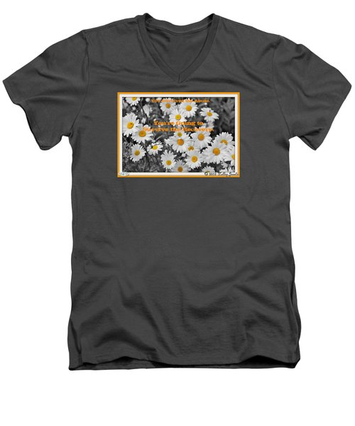 Survive The Recovery Men's V-Neck T-Shirt by Holley Jacobs